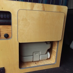 Drawer and potty underneath.