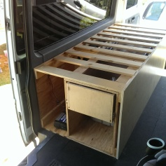 The drawer is in, but not finished.