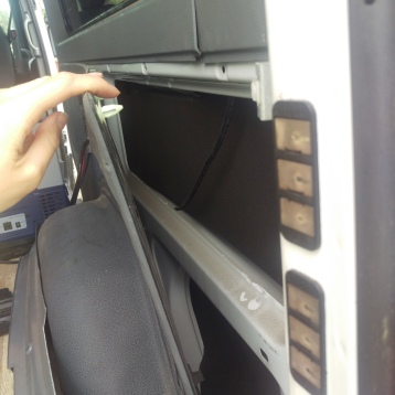 Uninsulated side panels.